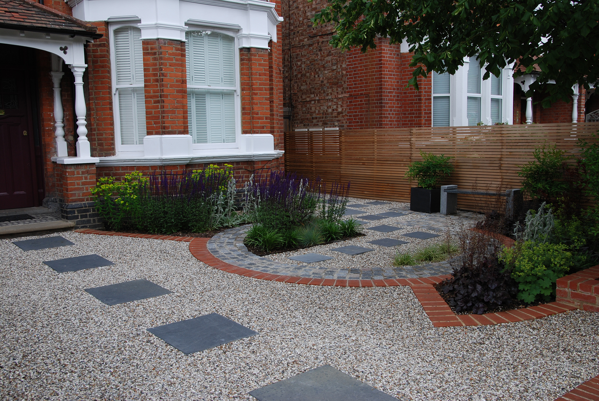 Front garden west london garden design for Front landscape design