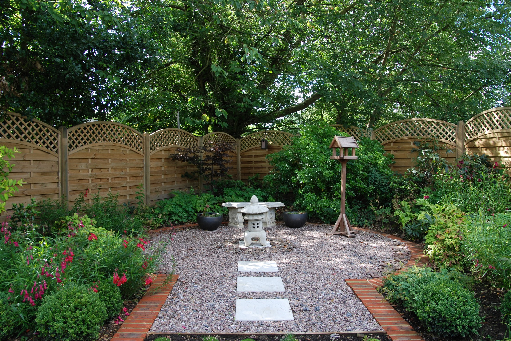 Japanese inspired garden for Japanese themed garden