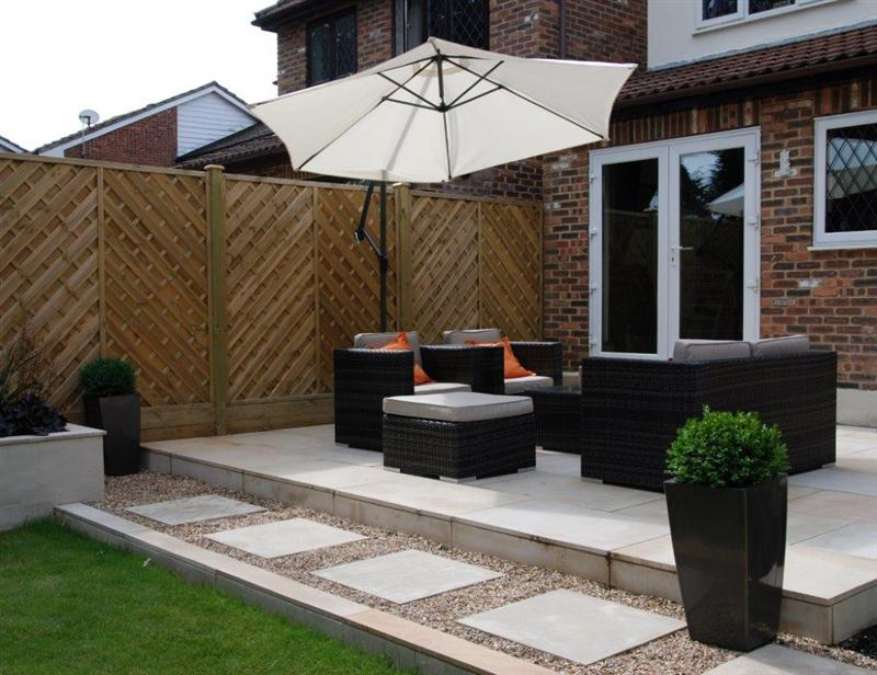 Low maintenance garden design west london for Garden decking before and after