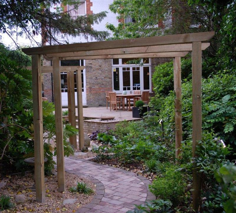shade garden west London garden design